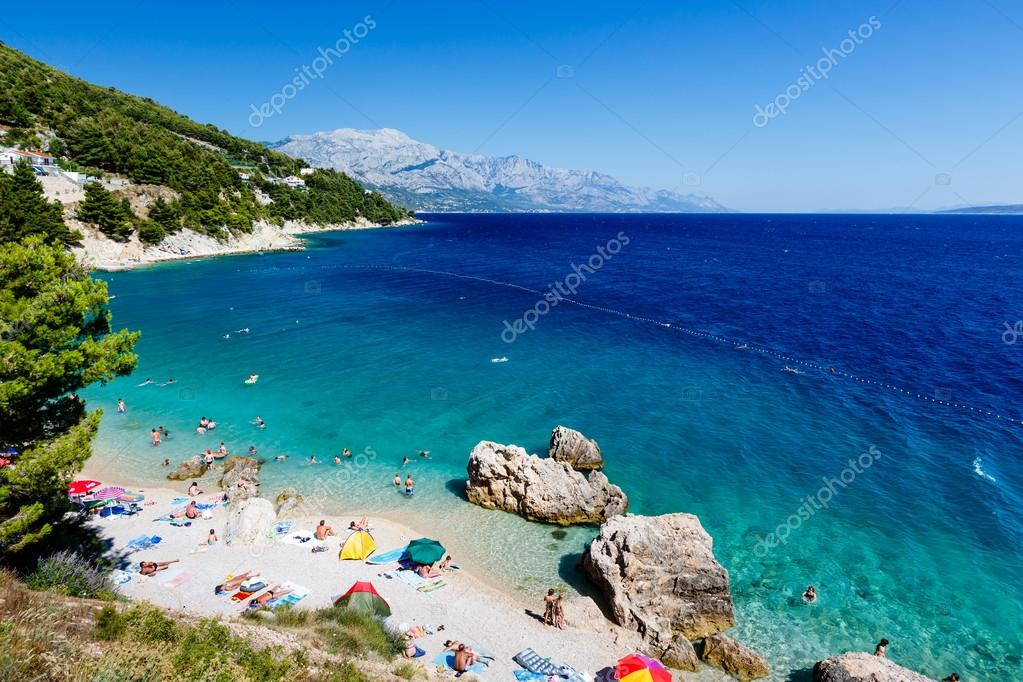 Beautiful Beach and Adriatic Sea with Transparent Blue Water nea