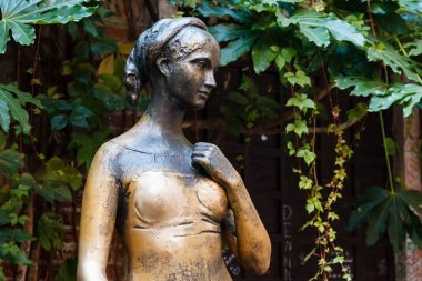 Statue of Juliet Capulet in Her House Backyard in Verona, Veneto