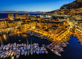 Photo Aerial View on Fontvieille and Monaco Harbor with Luxury Yachts,