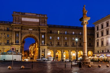 The Column of Abundance in the Piazza della Repubblica in the Mo