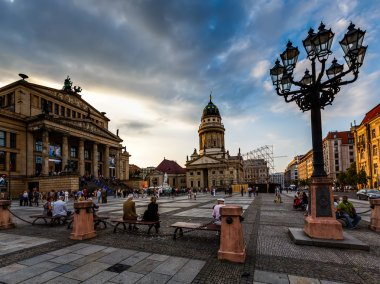 French Cathedral and Concert Hall on Gendarmenmarkt Square in Be