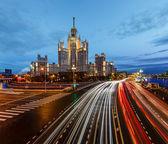 Stalin Skyscraper on Kotelnicheskaya Embankment of the Moscow Ri