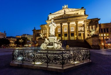 Friedrich Schiller Sculpture and Concert Hall on Gendarmenmarkt