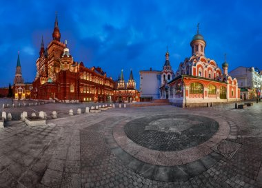 Panorama of the Red Square - Kremlin, Historical Museum, Resurre