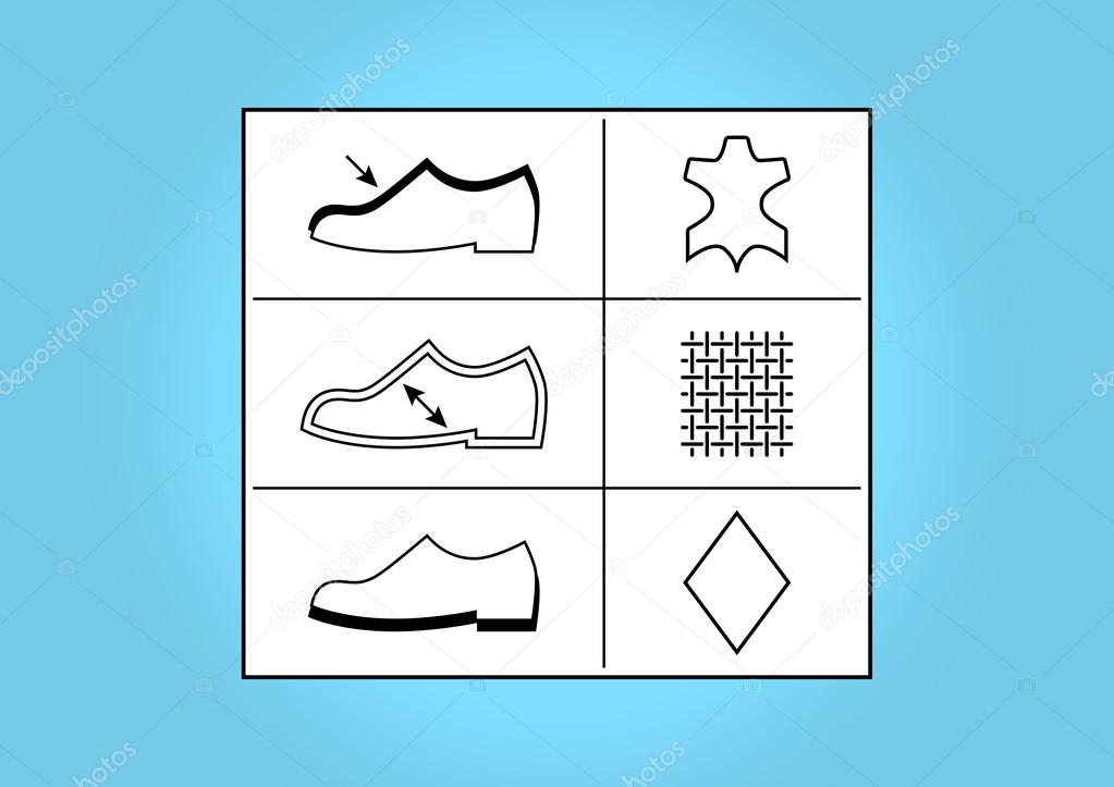 Footwear labels and symbols