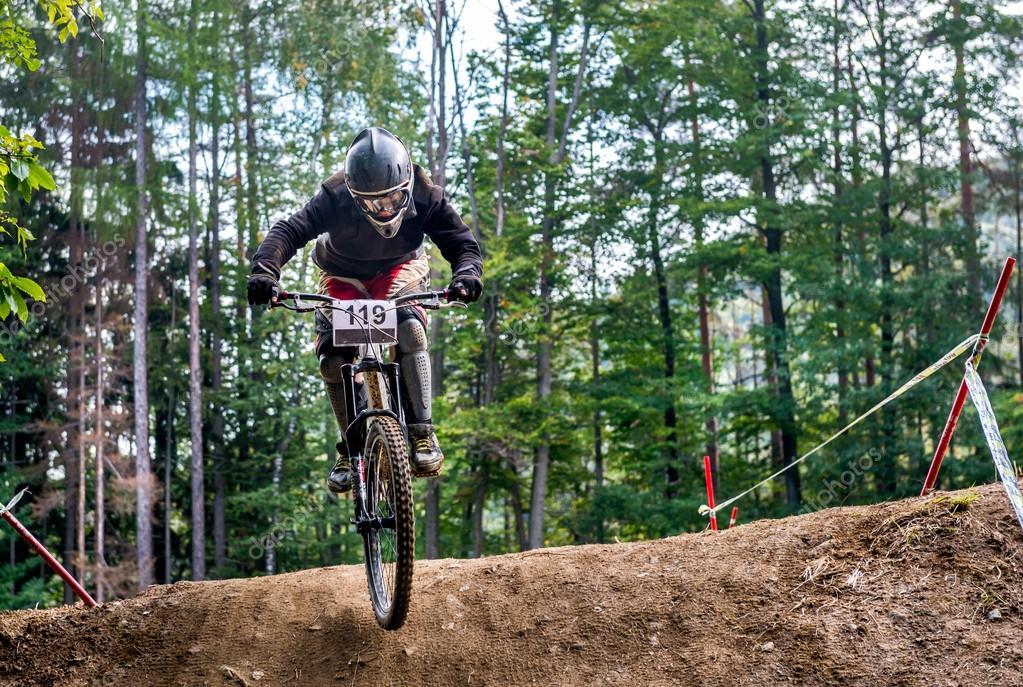 Jump with a mountain bike