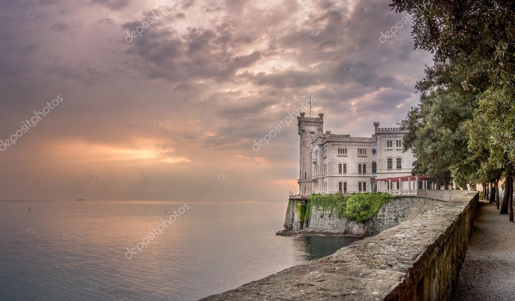 Miramare Castle at sunset, Trieste, Italy - Landscape