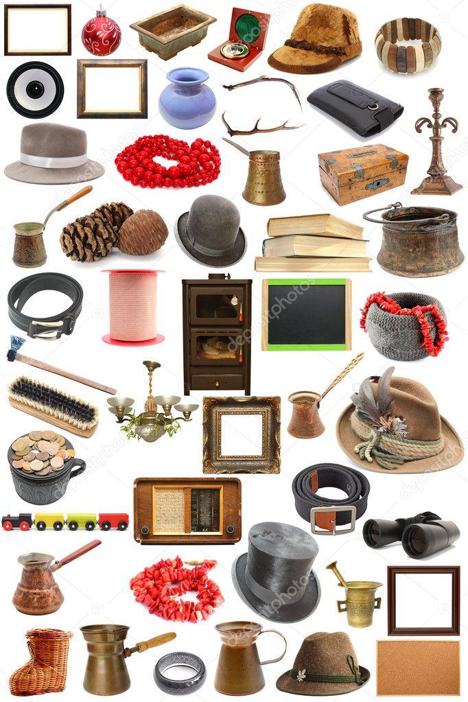colecci n de objetos vintage foto de stock taviphoto 24619595. Black Bedroom Furniture Sets. Home Design Ideas