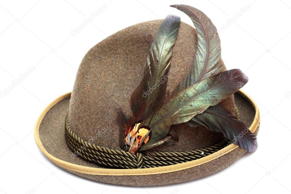 Cappello tedesco tradizionale Oktoberfest decorati con belle piume — Foto di  taviphoto 3d55ccb3dca0