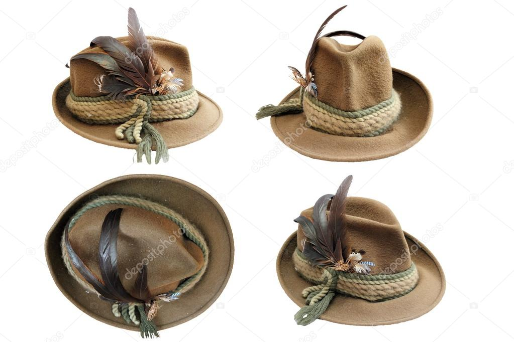 cb657b19dee Traditional hunting hat details in four different views isolated over white  for your design — Photo by ...