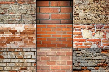 collection of brick wall textures