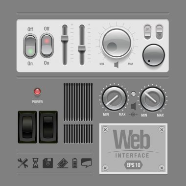 Web UI Elements Design Gray.