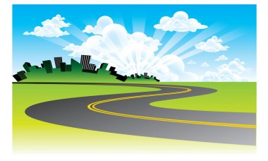 Background road vector