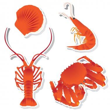 Seafood: shrimp, crawfish, crab, Scallops