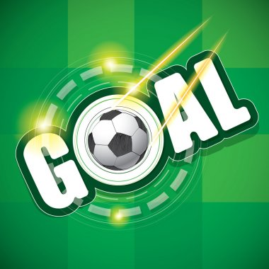 goal and football Vector