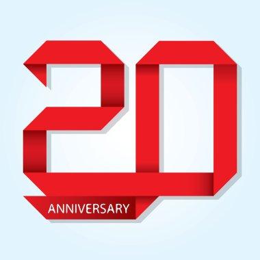 20 years anniversary vector