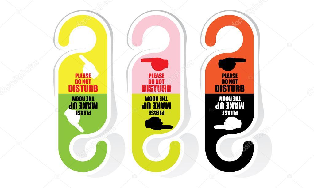 Affiche Ne Pas Déranger Pour Bureau cintre panneau ne pas déranger — image vectorielle tieataopoon