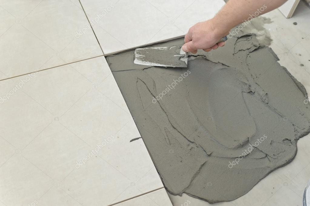 Laying Ceramic Tiles Stock Photo Yunava1 36920769