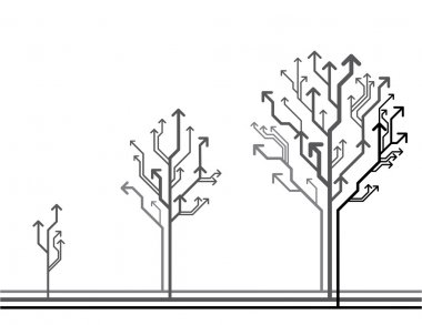 Vector growth concept. Tree made of arrows