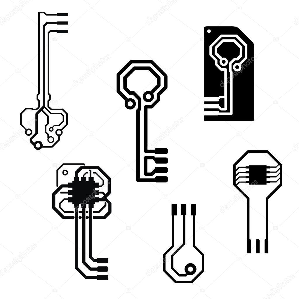 vector circuit board keys stock vector germina 15951829 rh depositphotos com vector circuit board circle vector computer circuit board