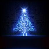 Fotografie Technology Christmas tree