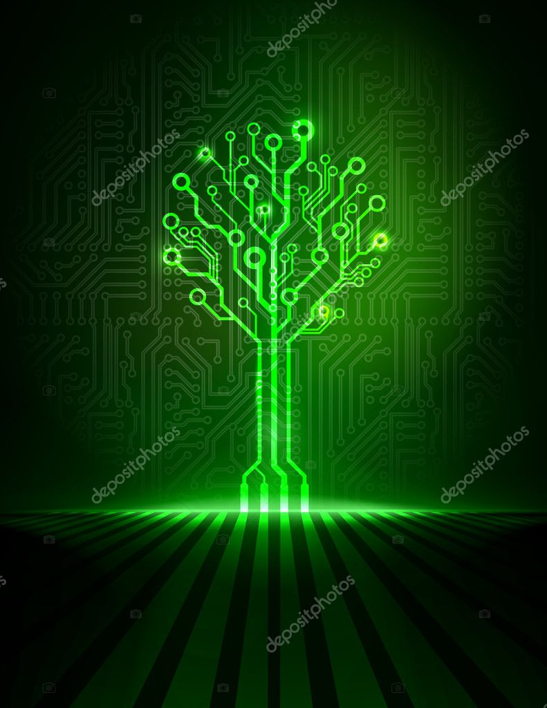 Circuit Board Vector Background Pics Stock Photos All Sites Design Over Green Illustration Abstract Technology Texture