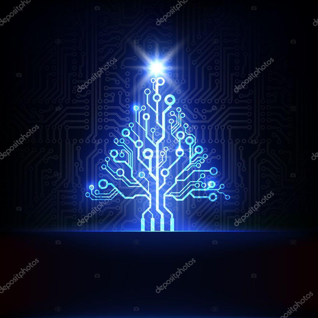 Technology Christmas tree