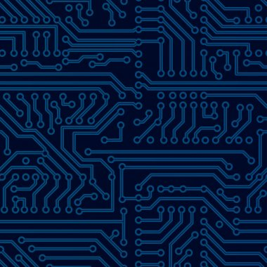 Vector circuit board seamless pattern