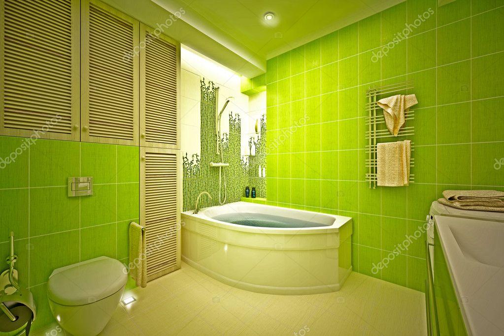 Eco, bamboe badkamer — Stockfoto © Podsolnukh #17439913