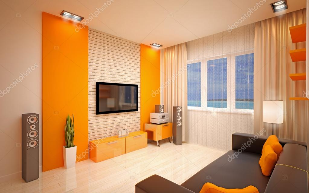 Interior design soggiorno moderno foto stock for Interior design moderno