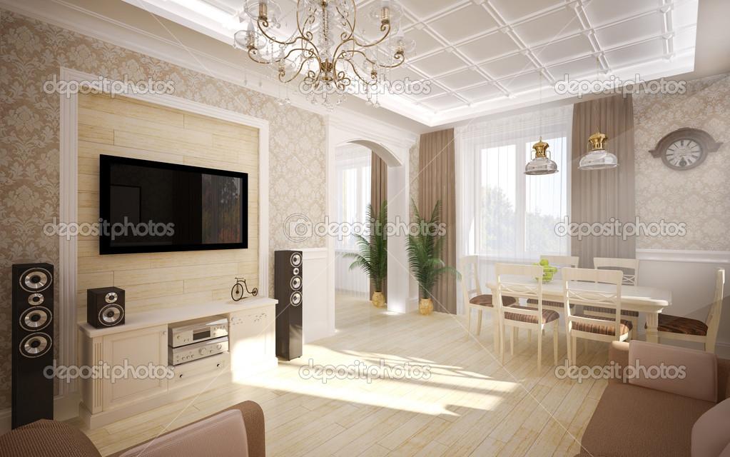 Interieur Klassieke Stijl : Interieur in klassieke stijl u stockfoto podsolnukh