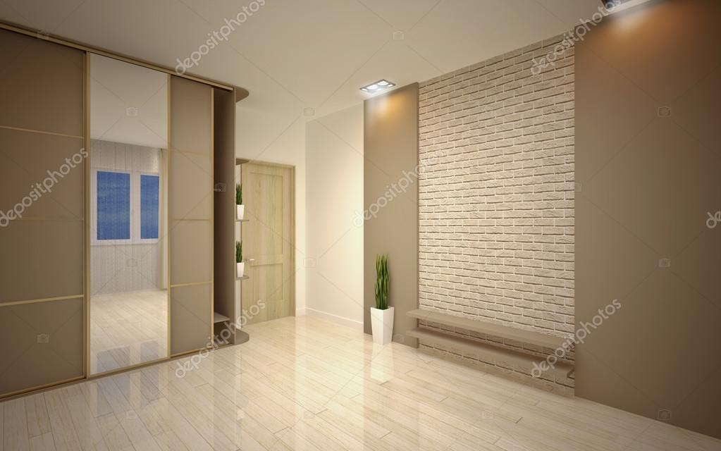 Modern Empty Living Room U2014 Stock Photo