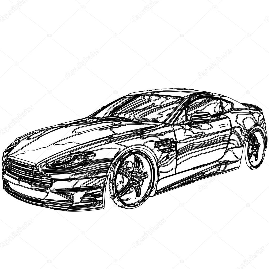 Auto-3d-Modell — Stockvektor © Podsolnukh #43369049