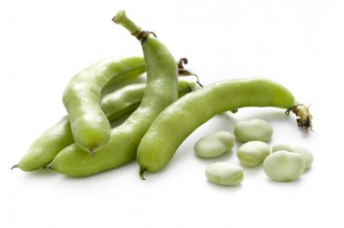 Broad beans or fava beans