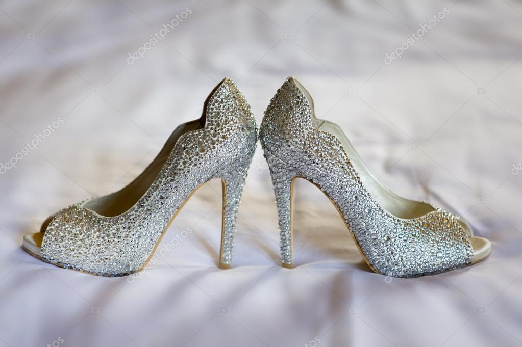 Diamante High Healed Wedding Shoes Of The Bride Photo By Eelnosiva