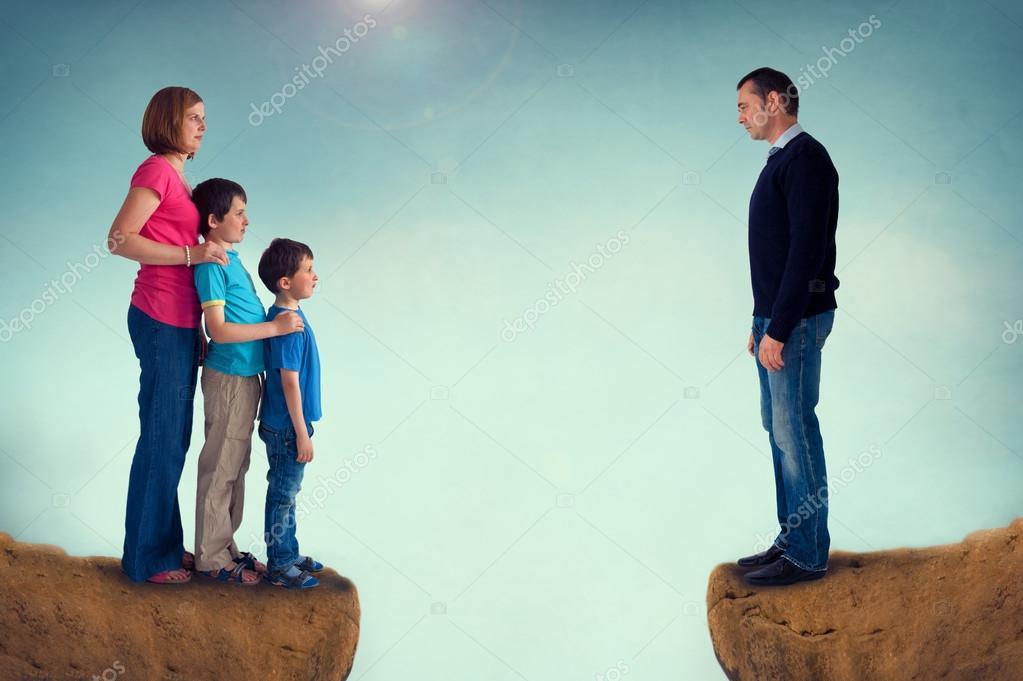 Resultado de imagen para imágenes de separación familiar