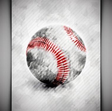 Baseball ball watercolor