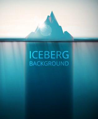 Abstract iceberg background, eps 10 stock vector
