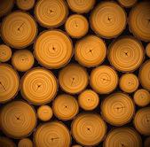 Hromadu dřeva protokolů