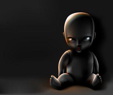 Doll on dark background