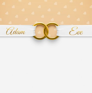 Wedding Background with rings, eps 10 clip art vector