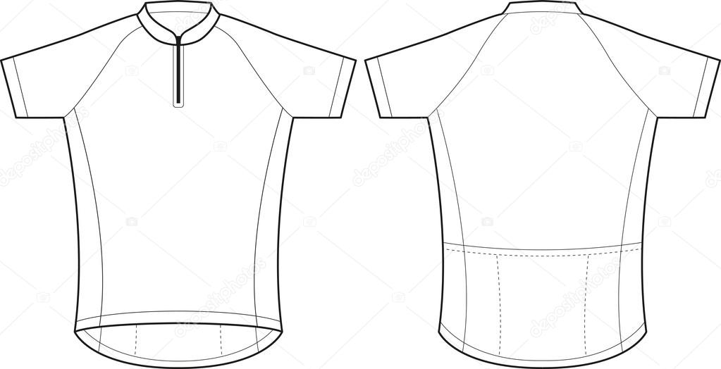 Cycling jersey — Stock Vector © Lukaves  14653977 9a94ce7e5