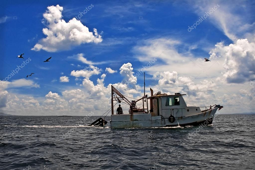 Towing Boat - Fishing boat trawler