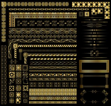 Gold Border Elements