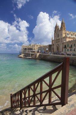 Saint Julians Bay in Malta