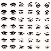Fotografie vector eyes and eyebrows silhouette,