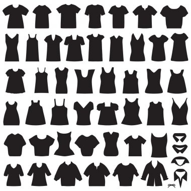 isolated shirts and blouses silhouette
