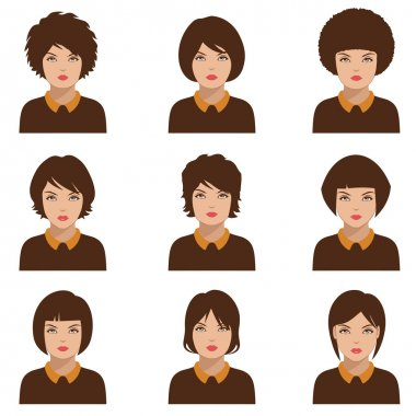 Avatar people icon, woman face