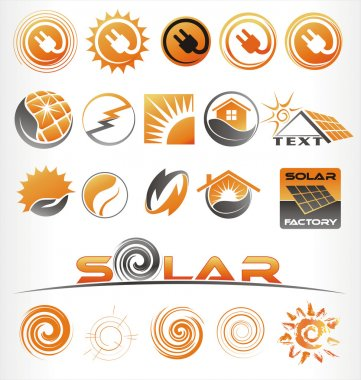 Set of vectors for a clean energy clip art vector