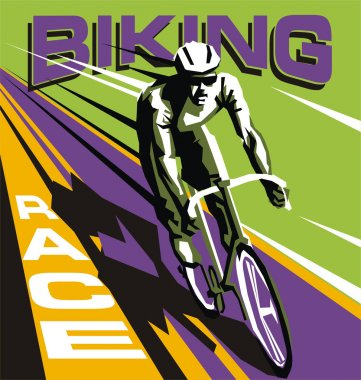 Colorful Biking race vector template